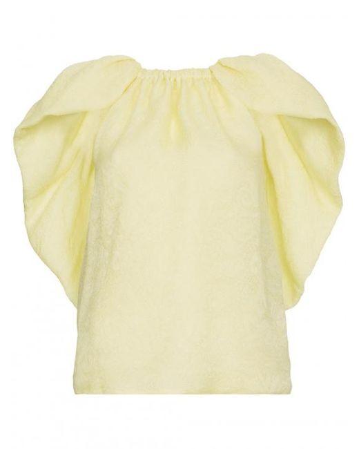 Rosie Assoulin - Multicolor Cape-effect Silk-jacquard Top - Lyst
