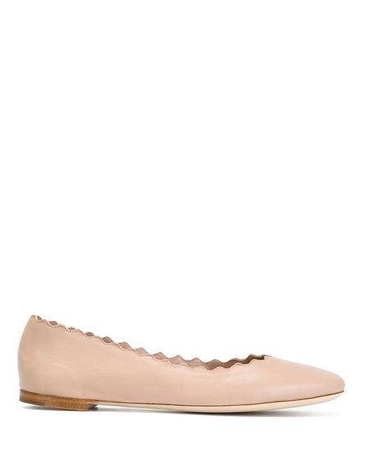 Chloé | Pink Lauren Flats | Lyst