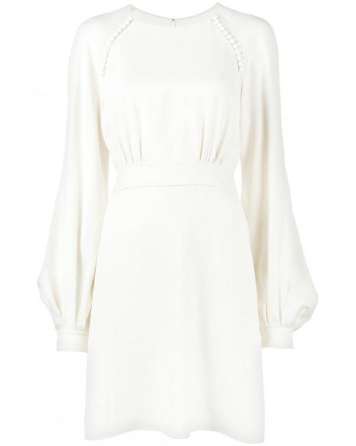 Chloé | White Bell Sleeve Dress | Lyst
