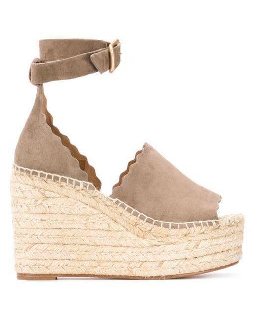 993fe0c4a1a Chloé - Natural Lauren Espadrille Sandals - Lyst ...