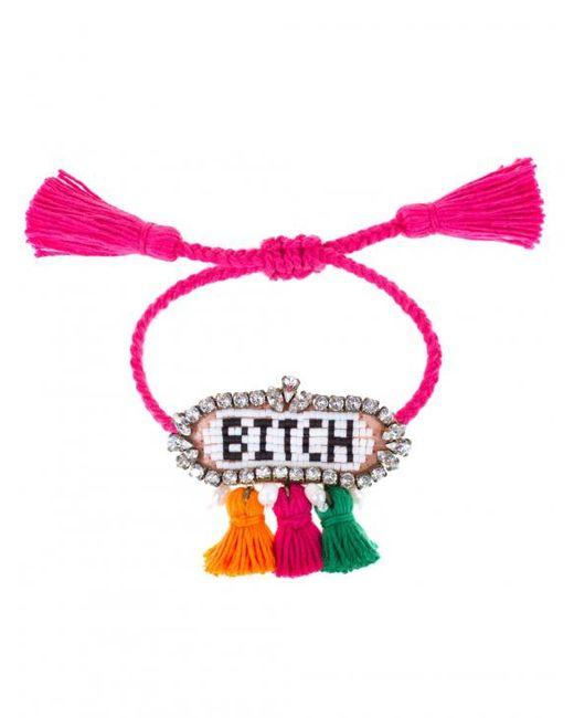 Shourouk | Pink Multicolor 'hippie Bitch' Bracelet | Lyst