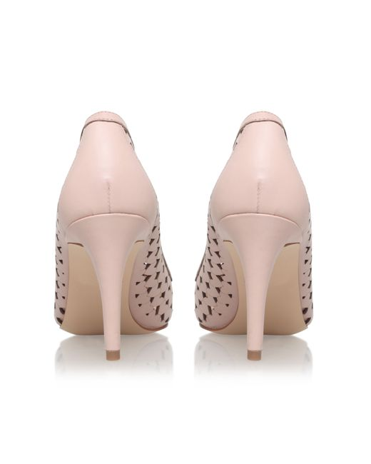 nine west porcupine high heel court shoes in pink pale
