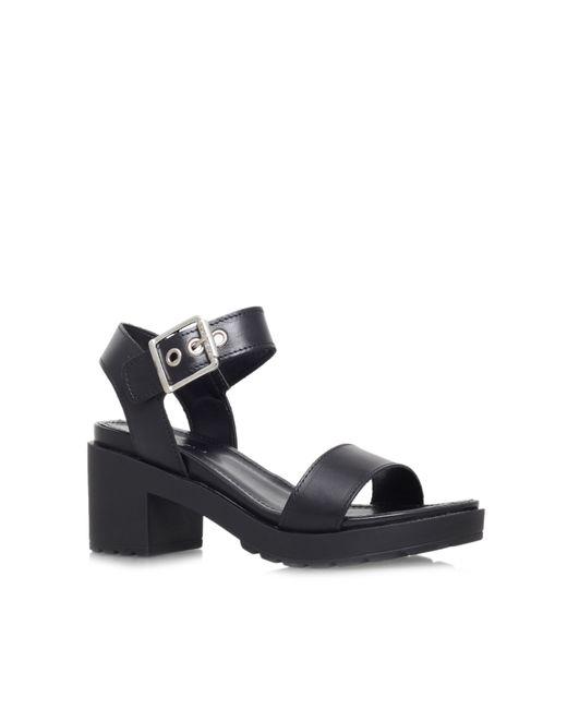 Carvela Kurt Geiger | Black Karina Mid Block Heel Sandals | Lyst