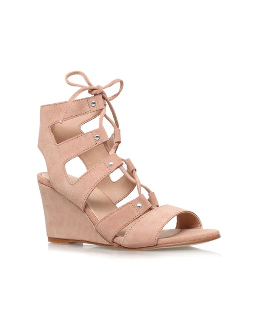 Carvela Kurt Geiger | Natural Khristie Mid Wedge Heel Shoe Boots | Lyst