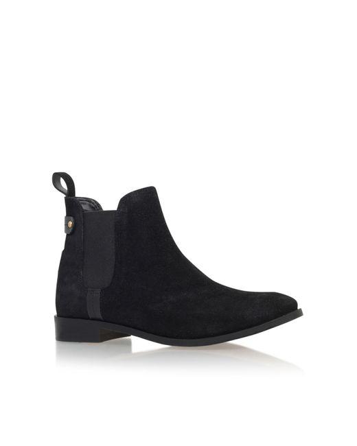 Carvela Kurt Geiger | Black Turn Flat Pull On Ankle Boots | Lyst