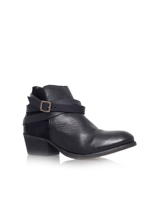 H by Hudson | Black Horrigan Low Block Heel Ankle Boots | Lyst