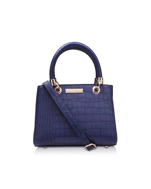 Carvela Kurt Geiger | Dea2 Croc Mini Tote In Blue Dark | Lyst