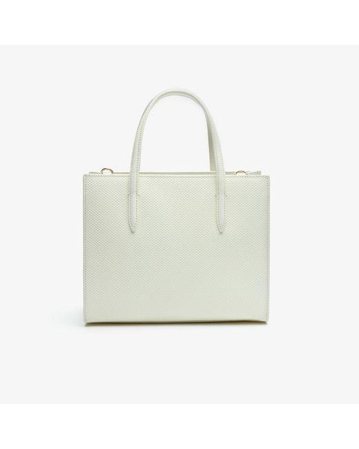 933780c456 ... Lacoste - Multicolor Chantaco Dual Carry Piqué Zip Leather Tote - Lyst  ...