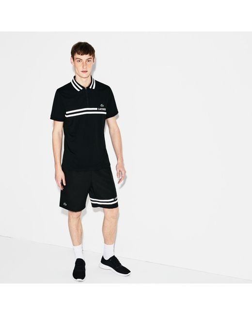 Lacoste - Black Sport Contrast Tennis Shorts for Men - Lyst