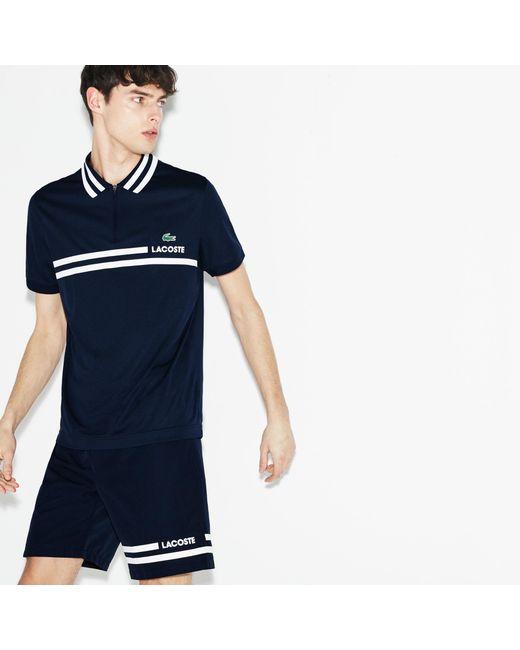Lacoste - Blue Sport Contrast Tennis Shorts for Men - Lyst