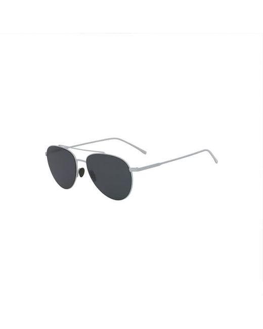 e50f2eabb8957 Lacoste - White Unisex Petit Piqué Sunglasses With Metal Frames for Men -  Lyst ...