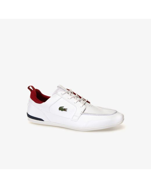 1354fd564 Lacoste - White Marina Textile And Leather Deck Shoes for Men - Lyst ...