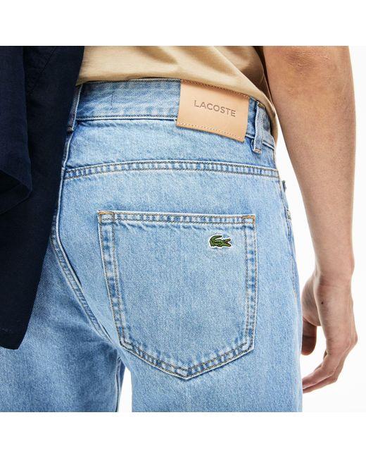 27e51b34 Lacoste Regular Fit 5-pocket Jeans in Blue for Men - Lyst