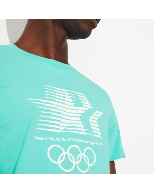 758c9c3ad2 ... Lacoste - Blue Olympic Heritage Collection T-shirt for Men - Lyst ...