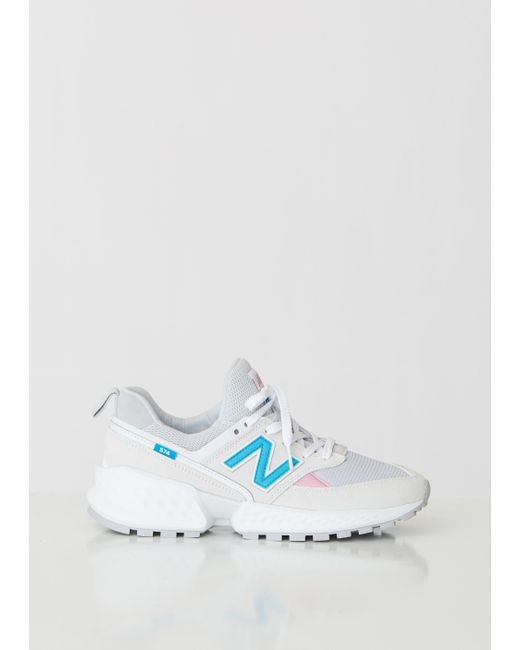 b90b2f5b68eca New Balance 574 Sport Suede Mesh Sneakers in Blue - Lyst
