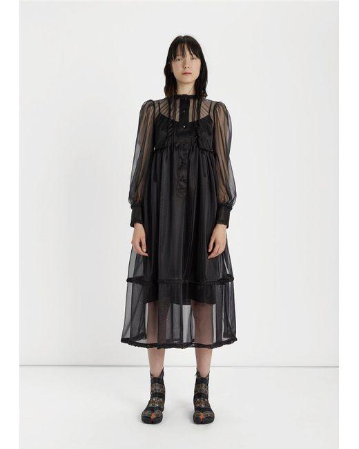 Ruched-neck crepe dress Maison Martin Margiela lUFkDYUlS