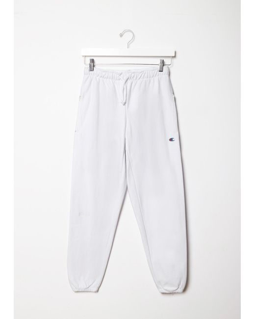 Vetements X Champion Knee Shape Sweatpants In White Lyst