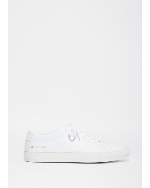 Common Projects | White Achilles Canvas Sneaker | Lyst