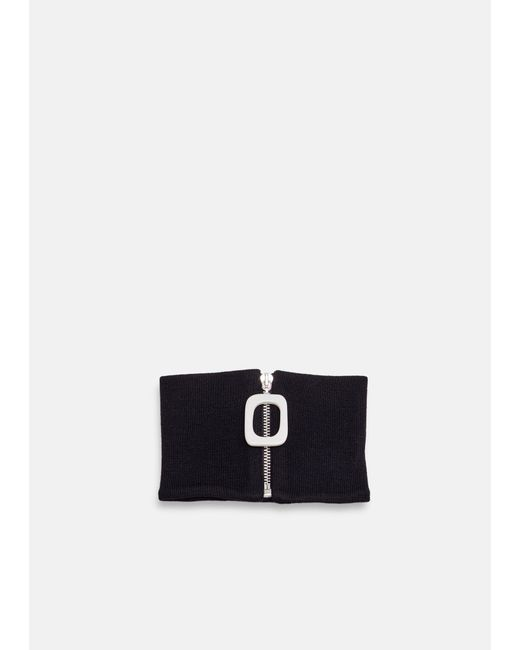 J.W. Anderson - Black Neckband With Zip Detail - Lyst