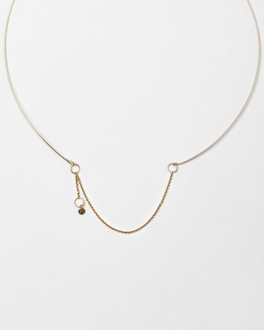 Saskia Diez | Pink Wire Necklace | Lyst