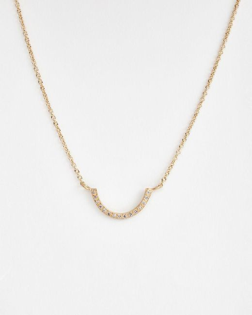 Satomi Kawakita | Metallic U-shaped Diamond Necklace | Lyst