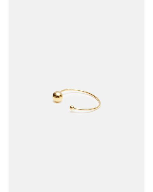 Jil Sander - Metallic Gold Bead Bracelet - Lyst