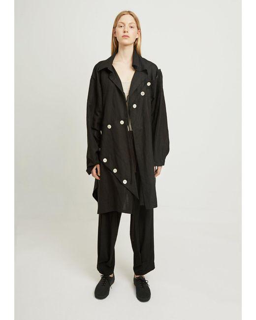 Yohji Yamamoto - Black Easy Cloth Button Patched - Lyst