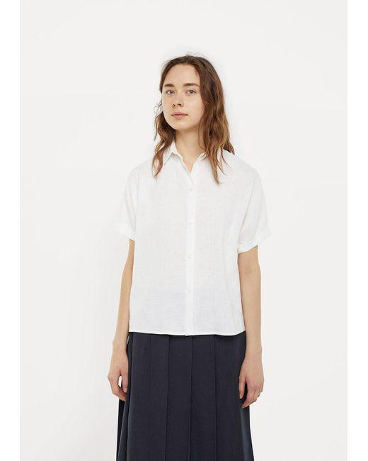 Moderne | White Linen Artist Shirt | Lyst