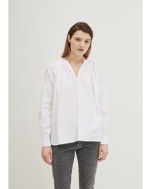 6397 - White Cotton Peasant Blouse - Lyst