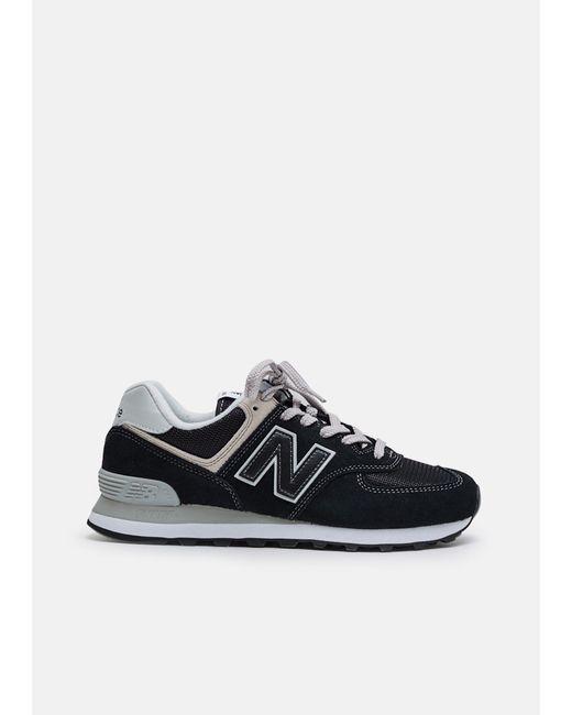 27a738d129e88 New Balance - Black 574 Classic Suede Mesh Sneaker for Men - Lyst ...