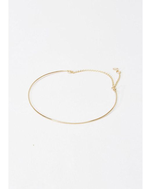 Saskia Diez   Metallic 18k Gold Wire Bracelet   Lyst