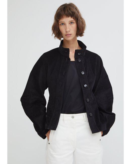 Lemaire - Black High-collar Cotton-corduroy Jacket - Lyst