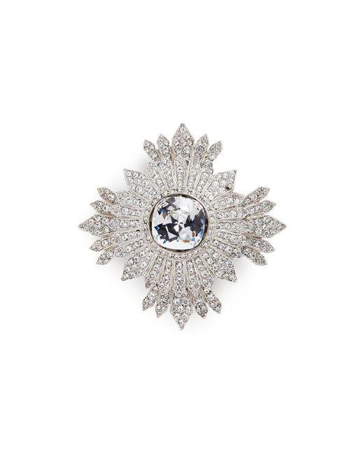 Kenneth Jay Lane   Metallic Glass Crystal Cluster Brooch   Lyst