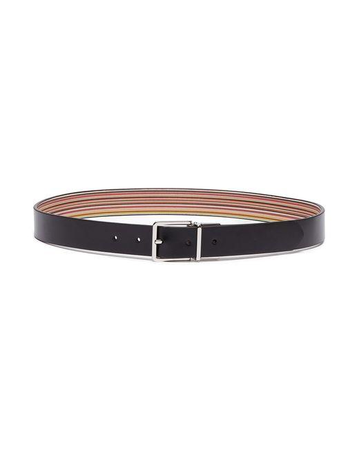 Paul Smith - Black Reversible Leather Belt - Lyst