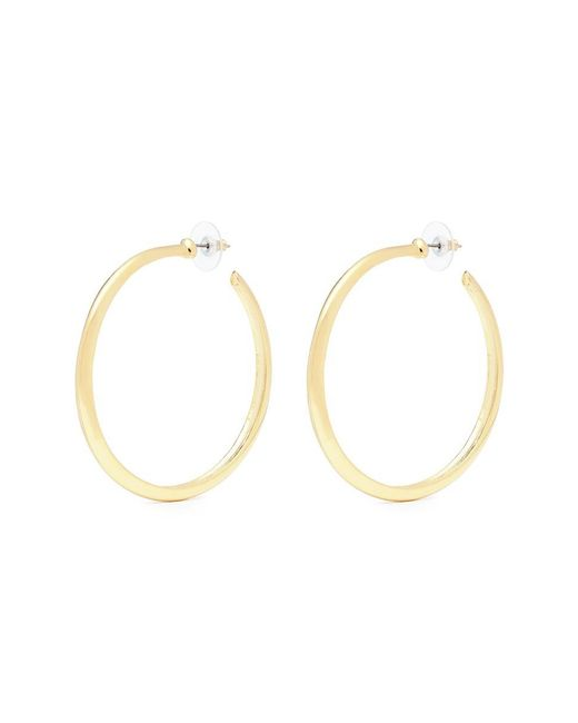 Kenneth Jay Lane - Metallic Hoop Earrings - Lyst