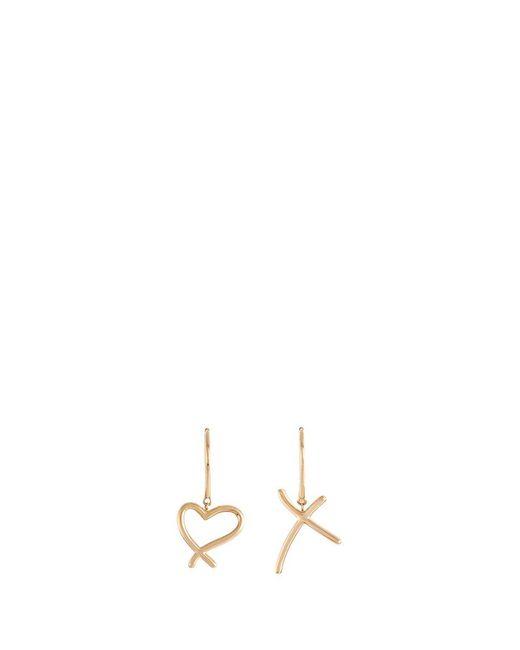 Stephen Webster - Metallic 'neon Heart And Kiss' 18k Yellow Gold Asymmetric Earrings - Lyst