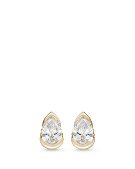 Fernando Jorge | White 'bloom' Diamond 18k Gold Mini Stud Earrings | Lyst