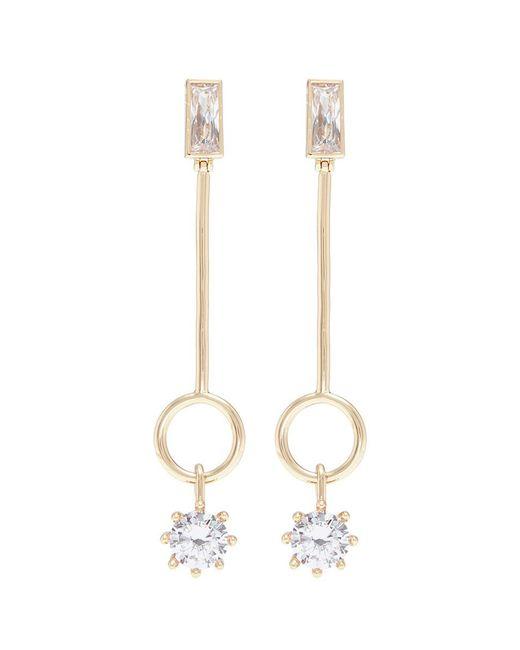 Eddie Borgo - Metallic Cubic Zirconia Ring Bar Drop Earrings - Lyst