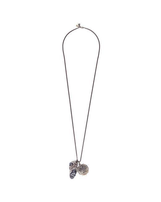 Alexander McQueen | Metallic Portoro Stone Mermaid Disc Pendant Necklace | Lyst