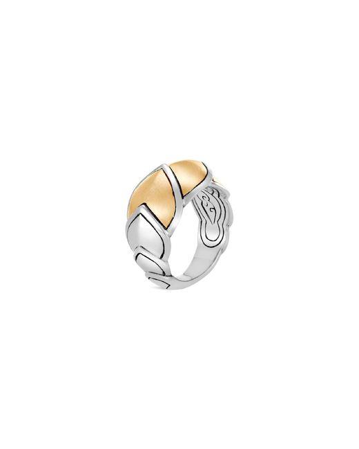 John Hardy - Metallic 'legends Naga' 18k Yellow Gold Silver Ring - Lyst