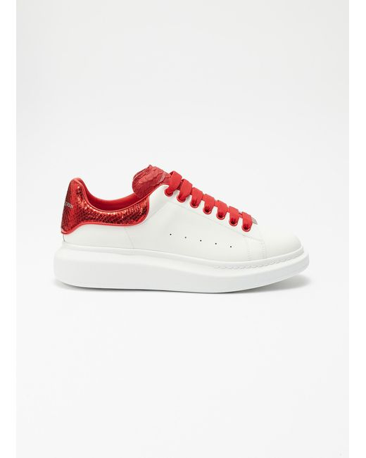f7c2a3f4a8d6c Alexander McQueen - Multicolor  larry  Snake Embossed Collar Chunky Outsole Leather  Sneakers for Men ...