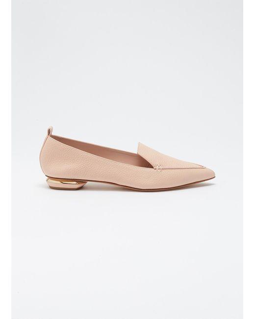 1ca24f78623 Nicholas Kirkwood - Multicolor  beya  Metal Heel Leather Skimmer Loafers -  Lyst ...