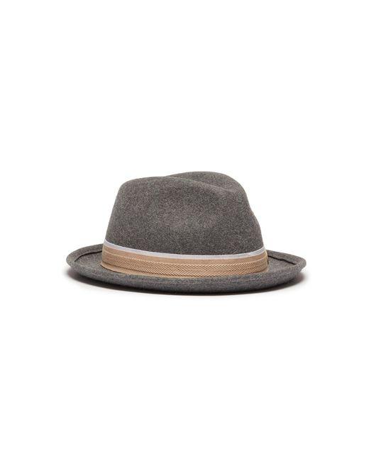 Maison Michel - Gray 'ygor' Rabbit Furfelt Trilby Hat - Lyst