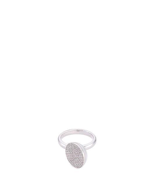 Tasaki | Metallic 'sliced' Diamond South Sea Pearl 18k White Gold Ring | Lyst