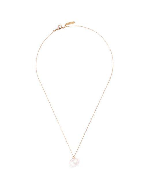 Tasaki | Metallic 'sliced' Freshwater Pearl 18k Yellow Gold Pendant Necklace | Lyst