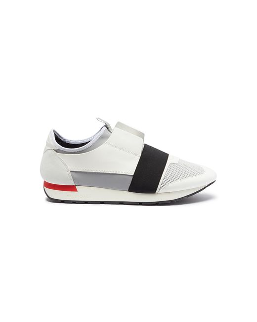 271073adf9f5 Balenciaga Race Runner Sneakers in White for Men - Save 15% - Lyst