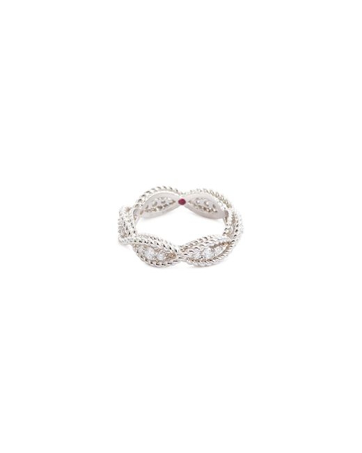 Roberto Coin - Metallic 'new Barocco' Diamond 18k White Gold Ring - Lyst