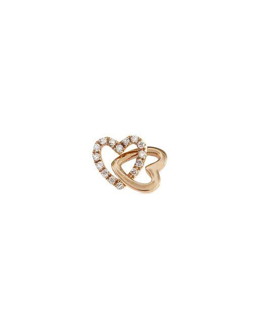 Loquet London - Metallic 'linked Hearts' Diamond 14k Yellow Gold Single Stud Earring – Always Together - Lyst
