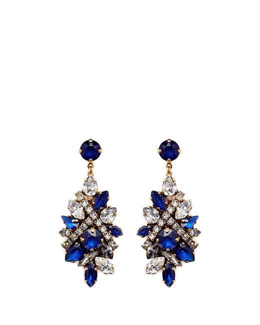 Erickson Beamon | Blue 'parlor Trick' Swarovski Crystal Cluster Drop Earrings | Lyst