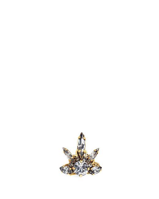 Erickson Beamon | Metallic 'rose Colored Glasses' Swarovski Crystal Ring | Lyst